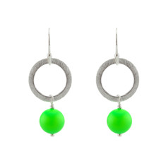 Green party earrings