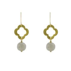 Gold clover earrings