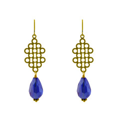 Midnight crystal earrings