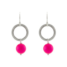 Pink party earrings