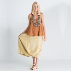 Ergo linen tote skirt