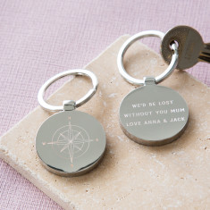 Personalised Mother's Day Compass Key Ring