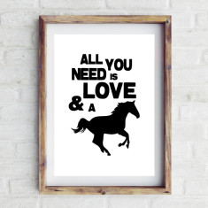 Love and a horse print