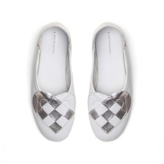 Elskling Slipper White/Metalic Pearl Leather