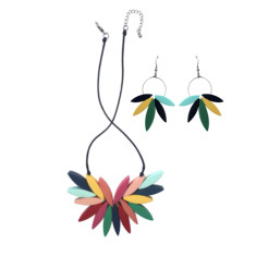 Carousel Sideshow Bloom Necklace + Earrings Set (2 Colours Available)