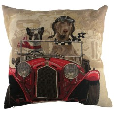 Wacky racers cushion in red