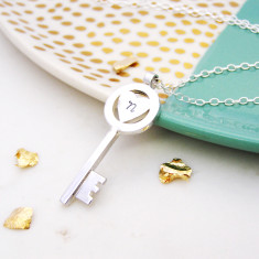 Personalised Heart Orbit Key Pendant