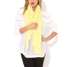 Moye cashmere stole in lemon chiffon
