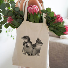 Fairy Penguins tote bag