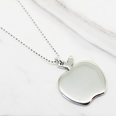 Apple sterling silver necklace