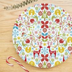 Yuletide plate