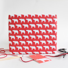 Santa bears wrapping paper (set of 2 wrap and tags)