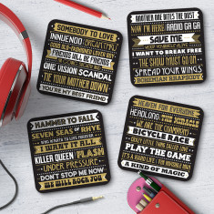 Queen Song Titles Coasters (Set of 4)