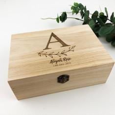 Personalised Initial Vine Keepsake Box