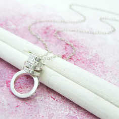 Personalised Lux Scroll Pendant