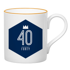 Forty birthday mug