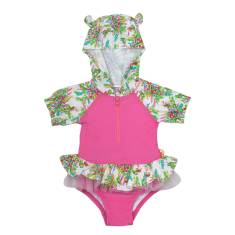 Springtime Baby Hooded One Piece Swimsuit