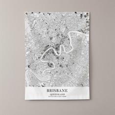 Brisbane eyelet wall hanging map