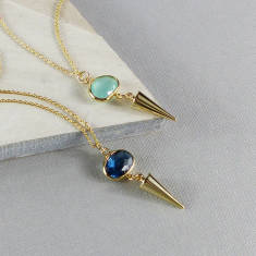 Anya gold pendulum glass necklace