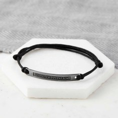 Personalised Oxidized Sterling Silver Coordinate Bracelet