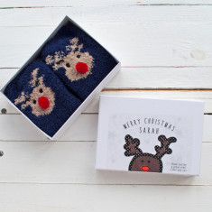 Personalised Christmas Slipper Socks in a Box