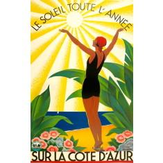 Sur La Cote D'Azur vintage wall tile