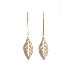 Leaf earrings in gold