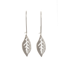 Leaf earrings in silver