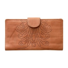 Sumitra tooled leather wallet in doe