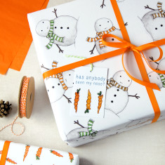 Christmas Snowman Wrapping Paper Set