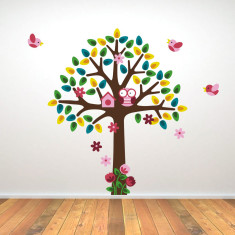 Tree With Pink Birds Wall Sticker