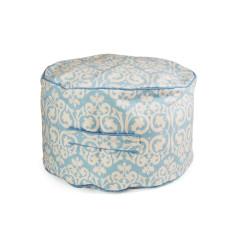 Blue damask bean ottoman Cover