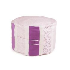 Pink stripy dot bean ottoman Cover