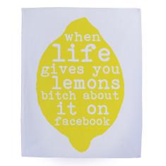 When life gives you lemons tea towel