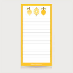 Lemons magnetic shopping list