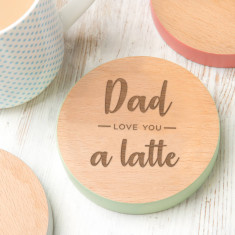Coffee Lover 'Dad, I Love You A Latte' Coaster