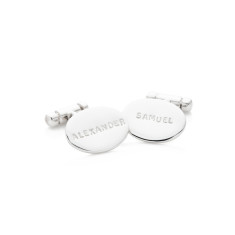 Leonard personalised sterling silver cufflinks
