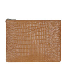 Antiheroine leather wallet in tan croc