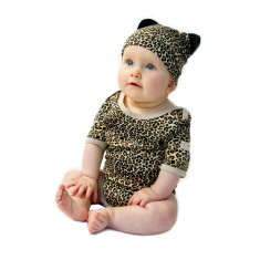 Leopard baby two piece set