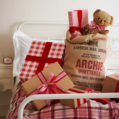 Personalised hessian Christmas sack