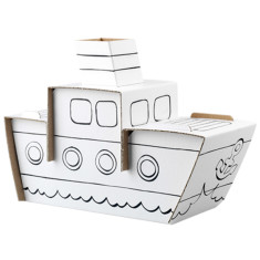 Calafant cardboard steam boat
