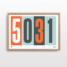 Postcode pride with orange print