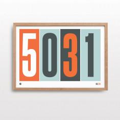 Postcode pride with orange print