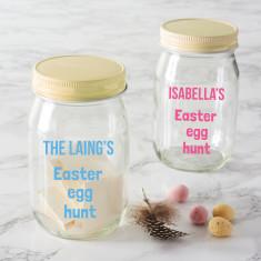 Personalised Easter Egg Hunt Jar