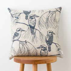 Kookaburra & Bracken cushion cover