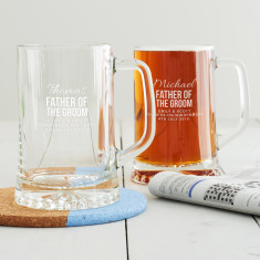 Personalised Father Of The Groom Tankard
