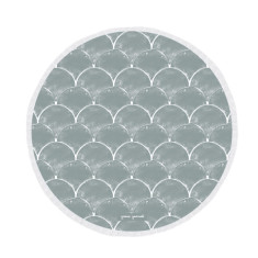 Fishscale Large Luxury Round Beach Towel