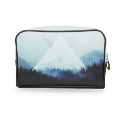 Large wash bag with black & white naturalistic artwork