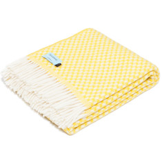 Sunshine Yellow Wool Throw