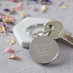Personalised Day You Became My Husband/Wife Keyring